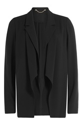 Jason Wu Draped Crepe Blazer Black