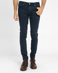Knowledge Cotton Apparel Navy 5 Pocket Stretch Slim Fit Trousers