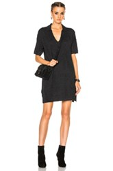 James Perse Cashmere Polo Dress In Black