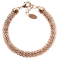 Finesse Rose Gold Plated Mesh Bracelet