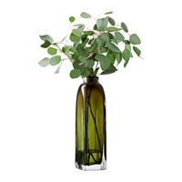 Lsa International Taffeta Vase Moss Green