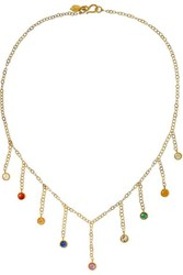 Pippa Small 18 Karat Gold Multi Stone Necklace One Size