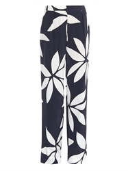 Issa Cerys Floral Print Silk Trousers