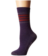 Smartwool Striped Hike Medium Crew Mountain Purple Women's Crew Cut Socks Shoes