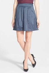 Halogen Pleated A Line Skirt Gray