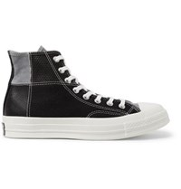 Converse 1970S Chuck Taylor All Star Patchwork Leather Corduroy And Twill High Top Sneakers Black
