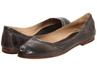 Frye Carson Ballet Charcoal Antique Soft Full Grain Women's Flat Shoes Brown