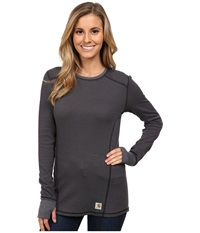 Carhartt Base Force Cold Weather Crew Neck Top Black Women's Long Sleeve Pullover
