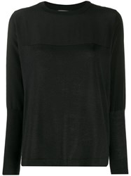 Max And Moi Panelled Jumper Black