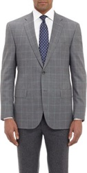 Barneys New York Super 120'S Check Two Button Sportcoat Grey