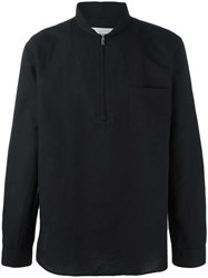 Our Legacy Shawl Collar Zipped Shirt Black