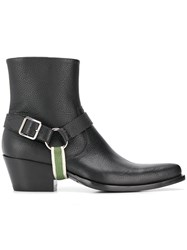 Calvin Klein 205W39nyc Textured Ankle Boots Black