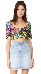 Moschino Print Crop Top Black
