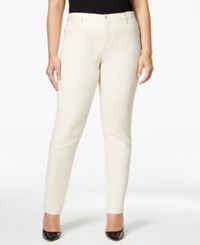 Styleandco. Style Co. Plus Size Tummy Control Slim Leg Jeans Only At Macy's Vintage Pearl