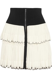Isabel Marant Roscoe Beaded Tiered Cotton Voile Mini Skirt