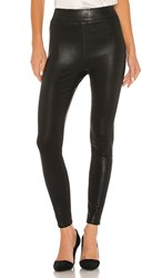 L'agence Rochelle Pull On Pant In Black. Black Coated