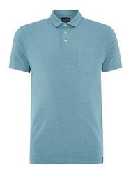 Criminal Men's Jones Stripe Polo Top Teal