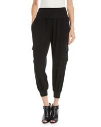Cinq A Sept Giles Crepe Pull On Jogger Pants Black