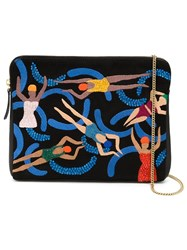Lizzie Fortunato Jewels 'Pool Girls Safari' Clutch Black