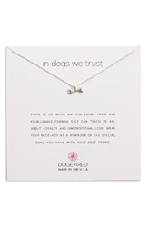 Dogeared Women's In Dogs We Trust Pendant Necklace Silver