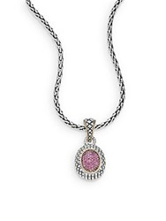 Effy Ruby 18K Yellow Gold And Sterling Silver Pendant Necklace Silver Ruby