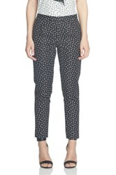 Cynthia Steffe Ditsy Leaf Double Weave Slim Pant Gray