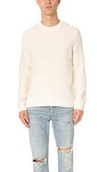 Vince Textured Crew Neck Sweater Pearl