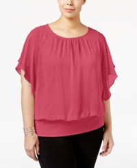 Jm Collection Plus Size Butterfly Sleeve Top Only At Macy's Perfect Rose