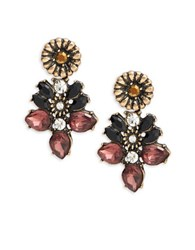 Design Lab Lord And Taylor Floral Cluster Earrings Gold