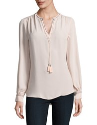 Ivanka Trump Embroidery Accented Top Blush Pink