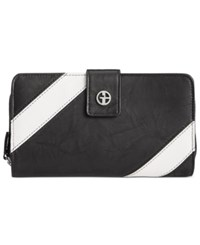 Giani Bernini Striped All In One Wallet Only At Macy's Black White