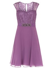 Kaliko Lace And Chiffon Prom Dress Lilac