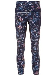 Lucas Hugh Floral Print Leggings Blue