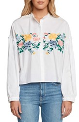 Willow And Clay Amoroso Embroidered Poplin Shirt Vellum