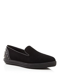 Alice Olivia Rory Spiked Heel Slip On Sneakers Black