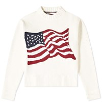 Tommy Jeans Hilfiger Collection Flag Knitted Crew Sweat White