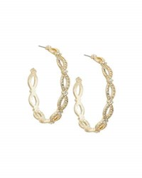 Fragments For Neiman Marcus Large Golden Pave Infinity Hoop Earrings
