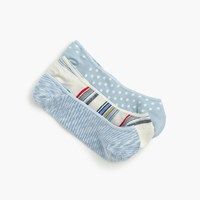 J.Crew Mixed No Show Socks Three Pack