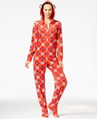 Paul Frank Julius Hooded Footed Jumpsuit Christmas Red