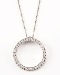 Pave Circle Necklace Roberto Coin White Gold