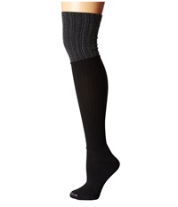 Bootights Darby Ellevators Cable Rib Jet Heather Hose Gray