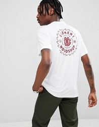 Element Blade Back Print T Shirt In White Grey