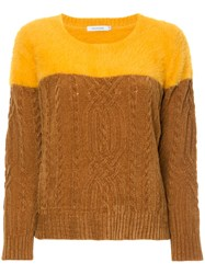 Guild Prime Cable Knit Sweater Yellow And Orange