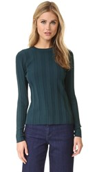 Milly Tech Rib Pullover Peacock