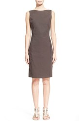 Women's Fabiana Filippi Stretch Cotton Sheath Dress Charcoal Brown