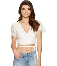 Lovers Friends It's A Wrap Top Ivory Women's Clothing White