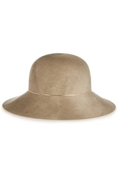 Eugenia Kim Blake Chain Trimmed Wide Brim Wool Felt Hat