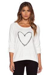 Central Park West Heart Sweater White