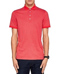 Ted Baker Boxer Geo Regular Fit Polo Coral