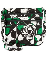 Vera Bradley Triple Zip Hipster Crossbody Imperial Rose